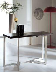 Console to dining table closed - sold by expand furniture