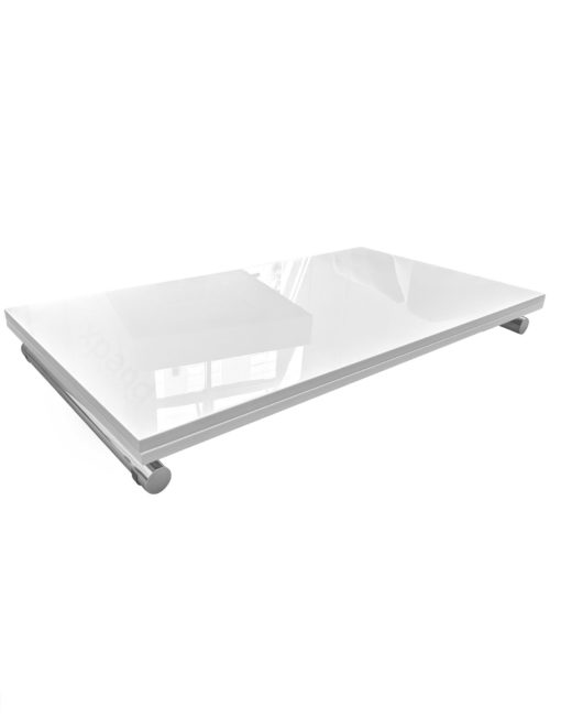 Evolved-Transforming-Table-Space-Saver-coffee-dinner-table-white-glass-and-chrome-legs