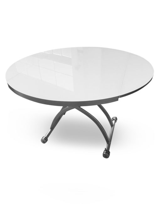 Chord-Round-Glass-lifting-lowering-coffee-convertible-dining-table-in-white-glass