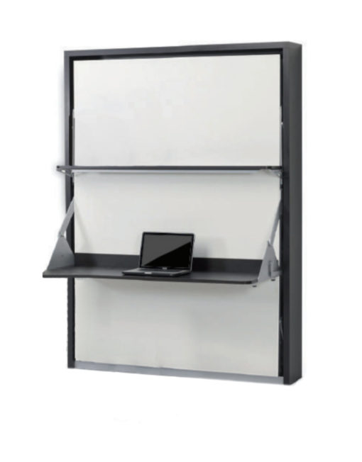 Compatto Desk wall bed with floating shelf