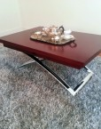 Expand Coffee Table in cherry wood folds and converts into a larger table - expandfurniture.com