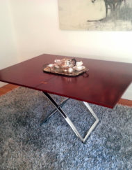 Expand Table in cherry wood as a large table that seats 8 can compact into a small coffee table - expandfurniture.com