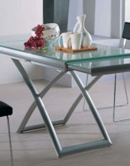 extending glass table opening up