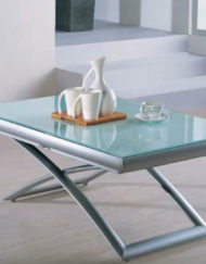 extending glass table lowered
