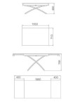 Extending Glass table - mm dimensions