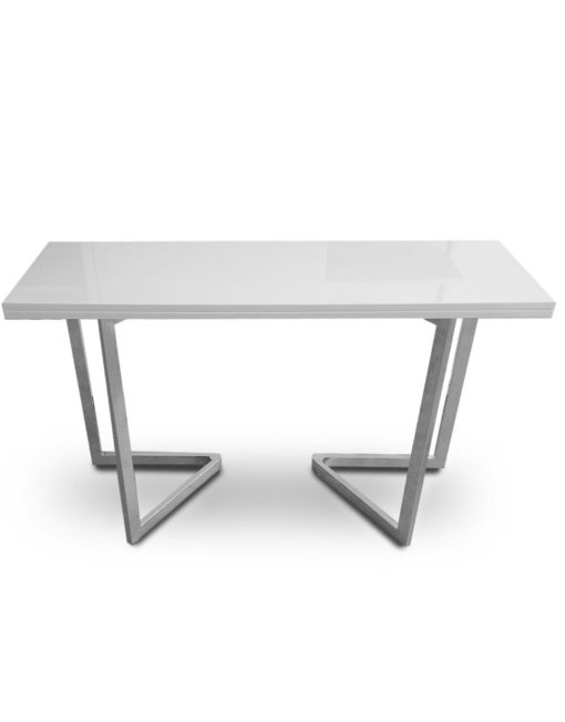Flip-console-to-dining-table-in-glossy-white-finish-can-double-in-size-by-flipping-over-into-a-larger-table