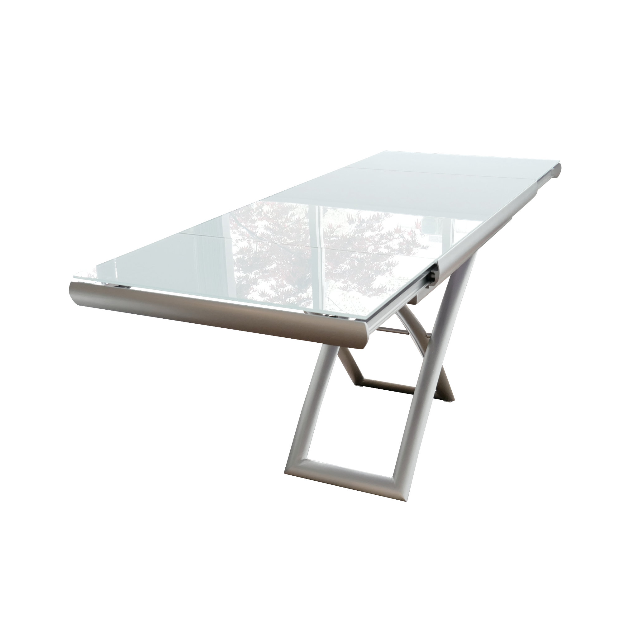 Transforming Extending Glass Table Expand Furniture