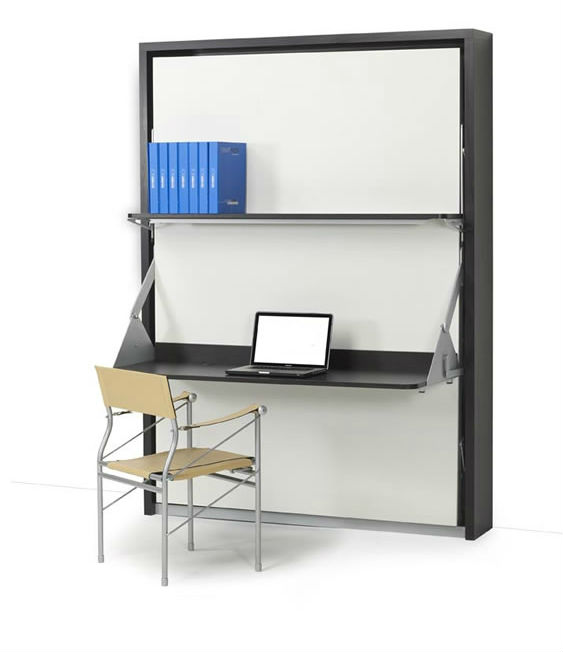 Vertical Italian Wall Bed Desk  Expand Furniture