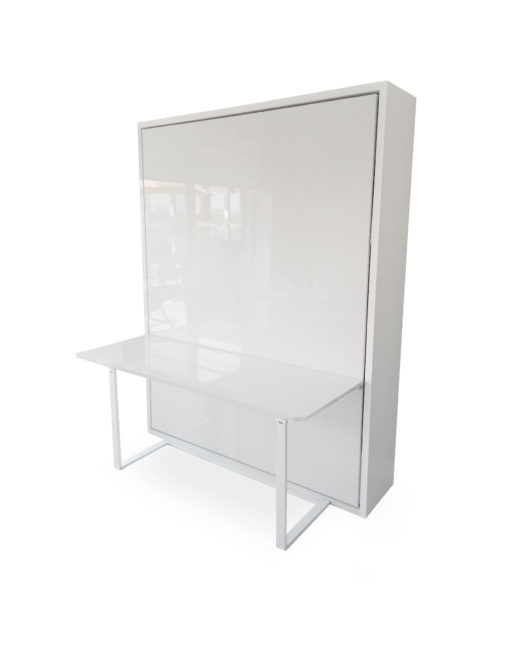 Murphy-Bed-Desk-combination-in-glossy-white