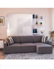 MurphySofa-Clean-sectional-glossy-wall-bed-with-3-piece-couch-in-grey