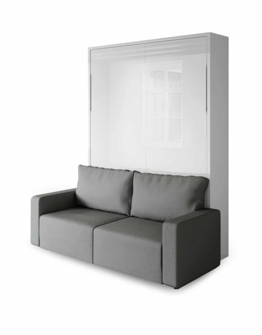 MurphySofa-Clean-wall-bed-sofa-murphy-bed-in-glossy-white-with-grey-sofa