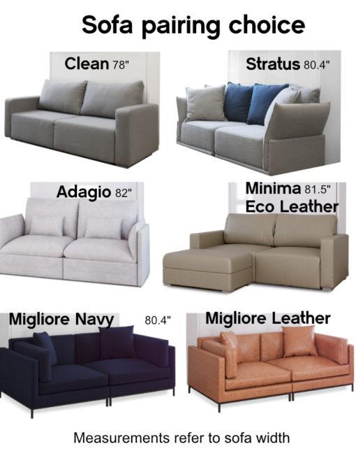 MurphySofa Float Sofa choices