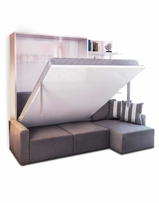 MurphySofa-Sectional-Wall-bed-sofa-combination-in-grey-and-glossy-white
