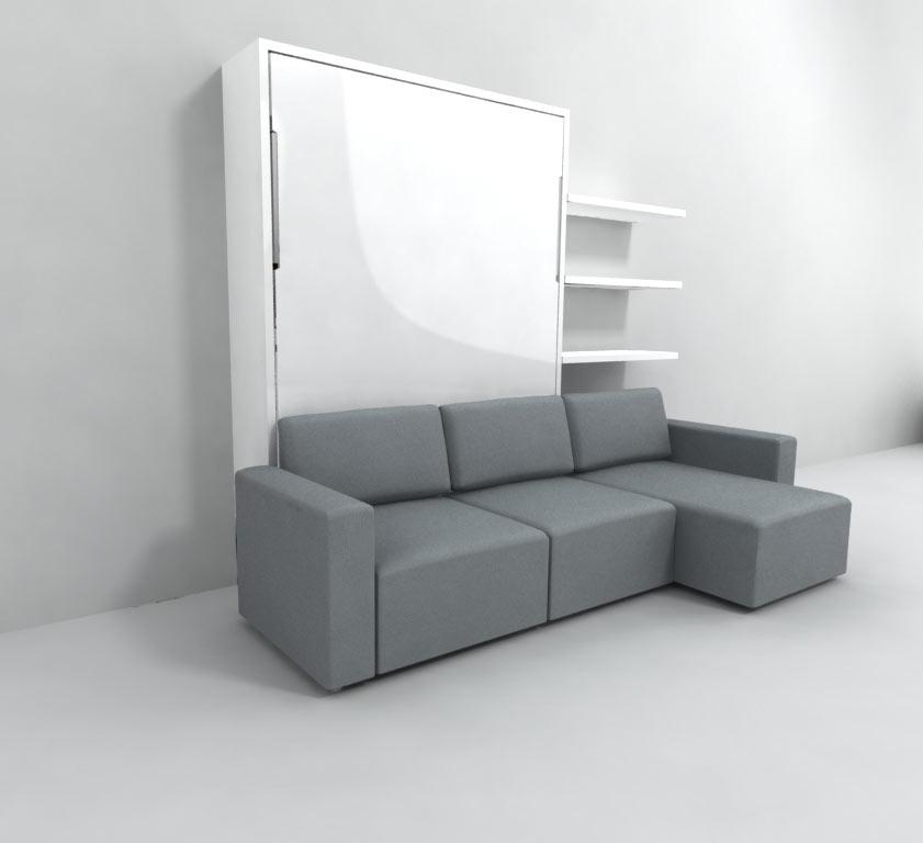 clean murphysofa sectional wall bed
