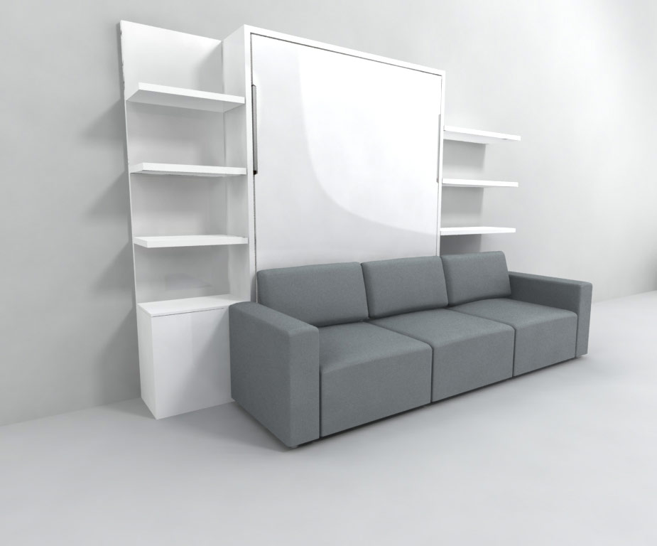Wall sofa bed nuovoliola free standing wall bed with for Sofa bett kombination