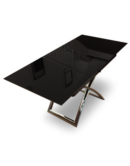 Obsidian-Small-Black-glass-extending-coffee-dining-table