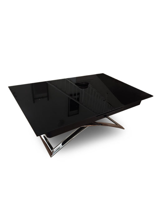 Obsidian-Small-glass-coffee-dining-table-convertible-in-black-glass-finish
