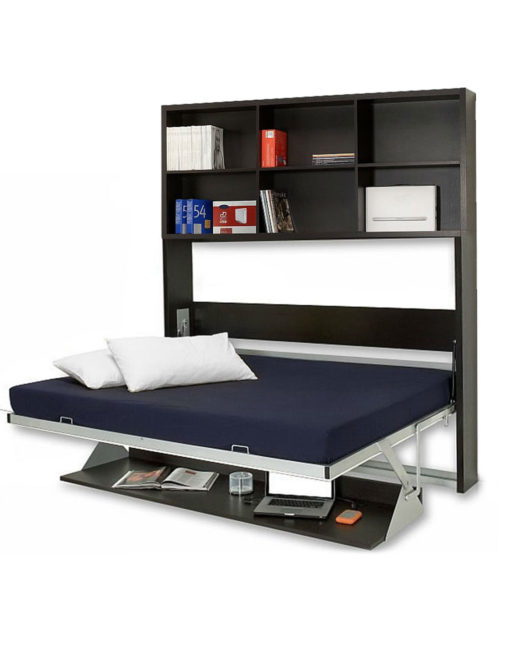 Horizontal Italian Wall Bed Desk Expand Furniture