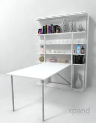 Revolving-italian-wall-bed-with-table-desk