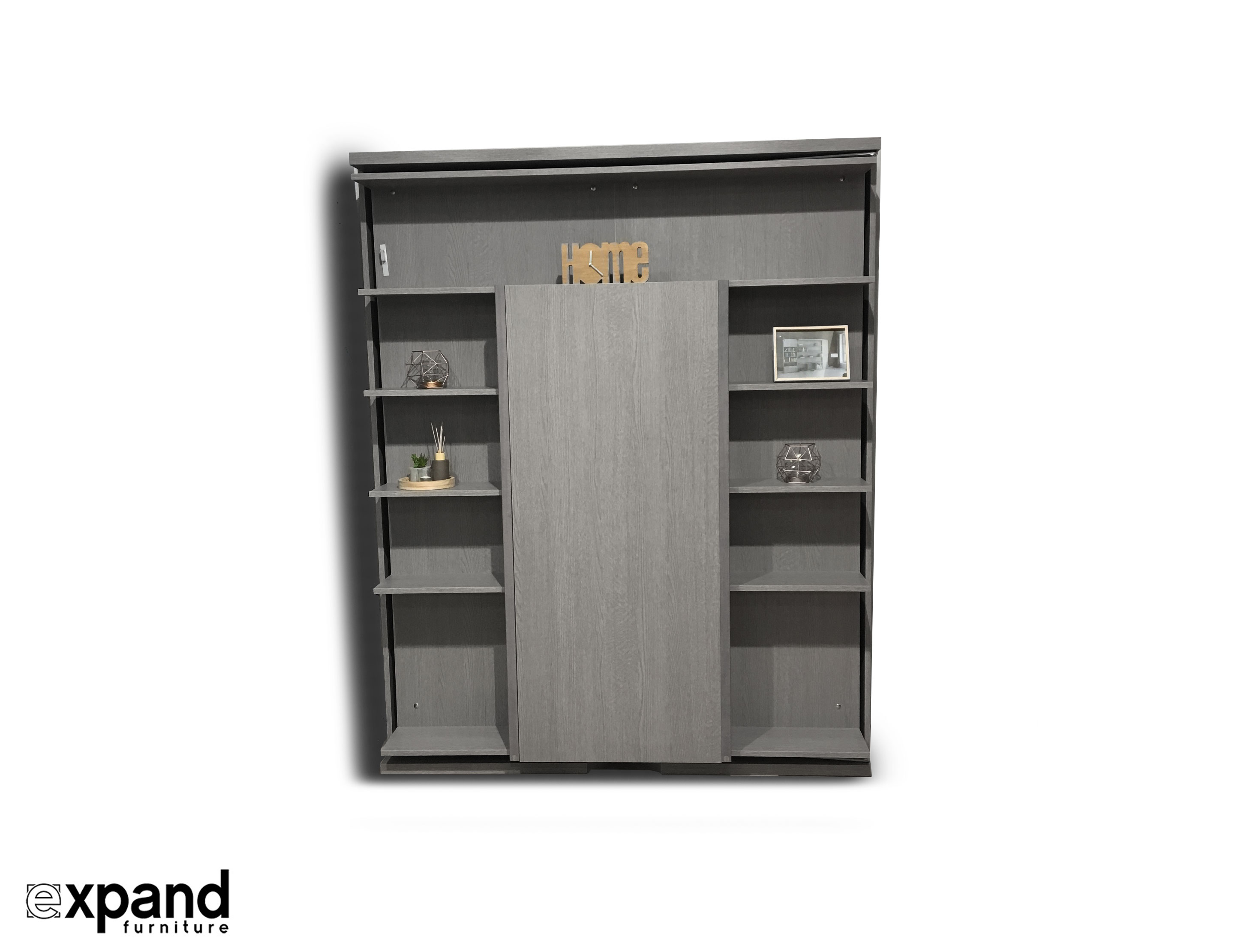 Compatto Wall Bed Revolving Bookcase With Table