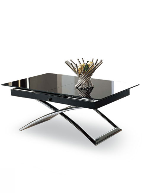 Small-black-glass-table-that-converts-into-large-extending-table