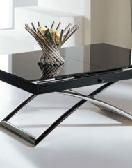 small table with glass extension