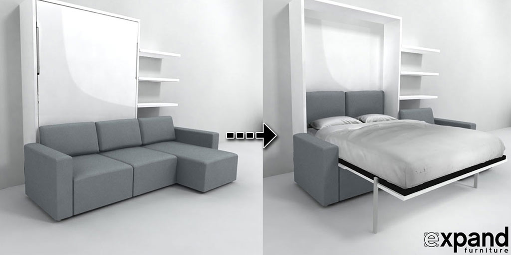 The Ito is a foot sofa & self-standing, queen size wall bed system. Sofa  has reclining function for maximum comfort and versatility.