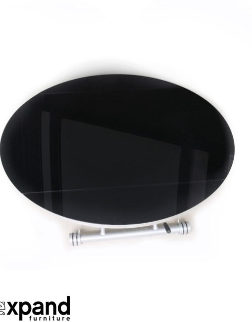 black-glass-round-lifting-coffee-table-open