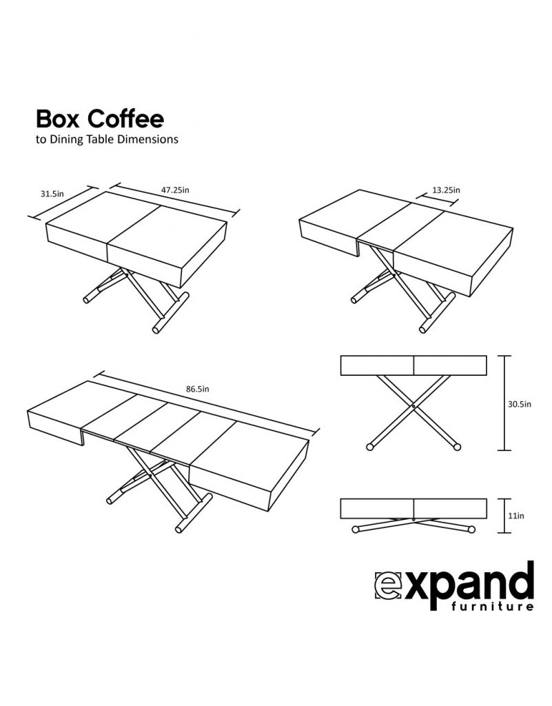 box coffee table dimensions web