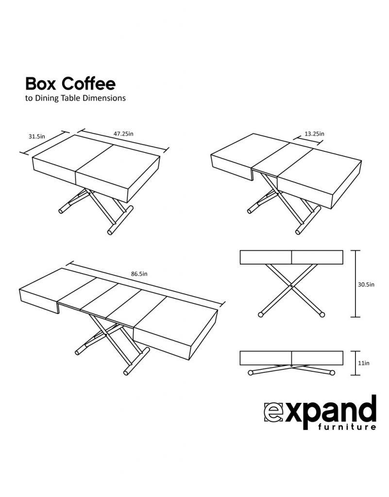 box coffee table dimensions web