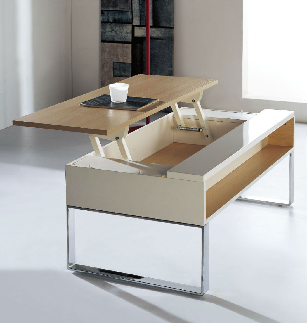 Lifting coffee table expand furniture - Table transformable up down ...