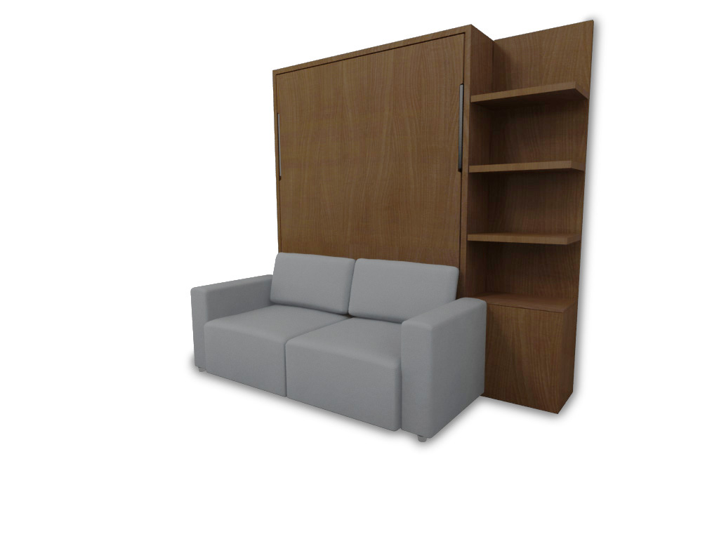 Murphysofa Clean Wall Bed Color Walnut Expand Furniture