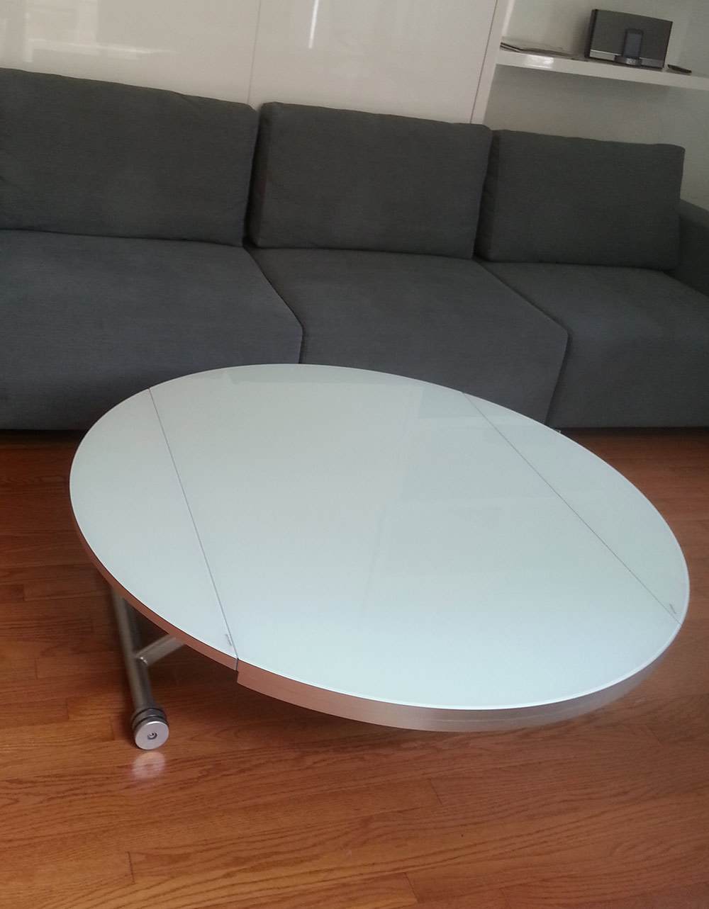 Lifting Round Coffee Dining Table Expand Furniture