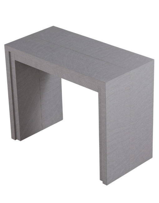 Junior-Giant-Revolution-Extending-Transforming-Console-table-in-Concrete-texture-finish-Seats-12