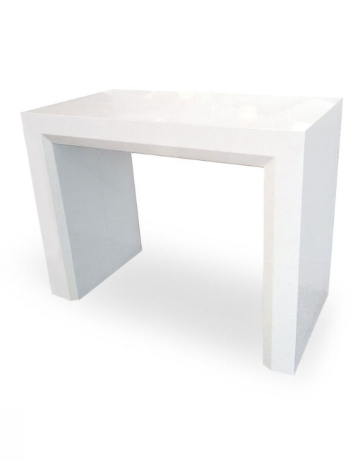 Junior-Giant-console-transforms-into-massive-table--white-gloss-finish