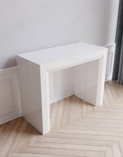Junior Giant White Console Table That Expands Into