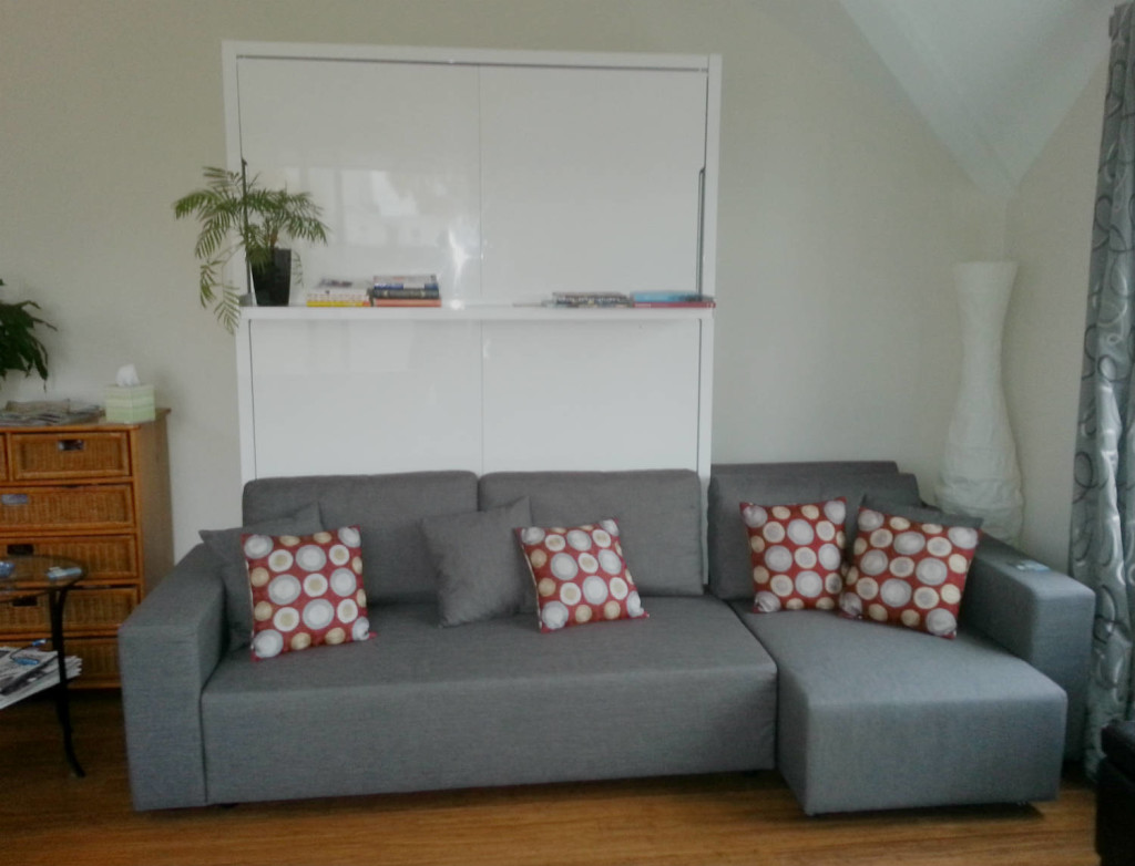Kitsilano Vancouver Sectional Couch Wall Bed Install