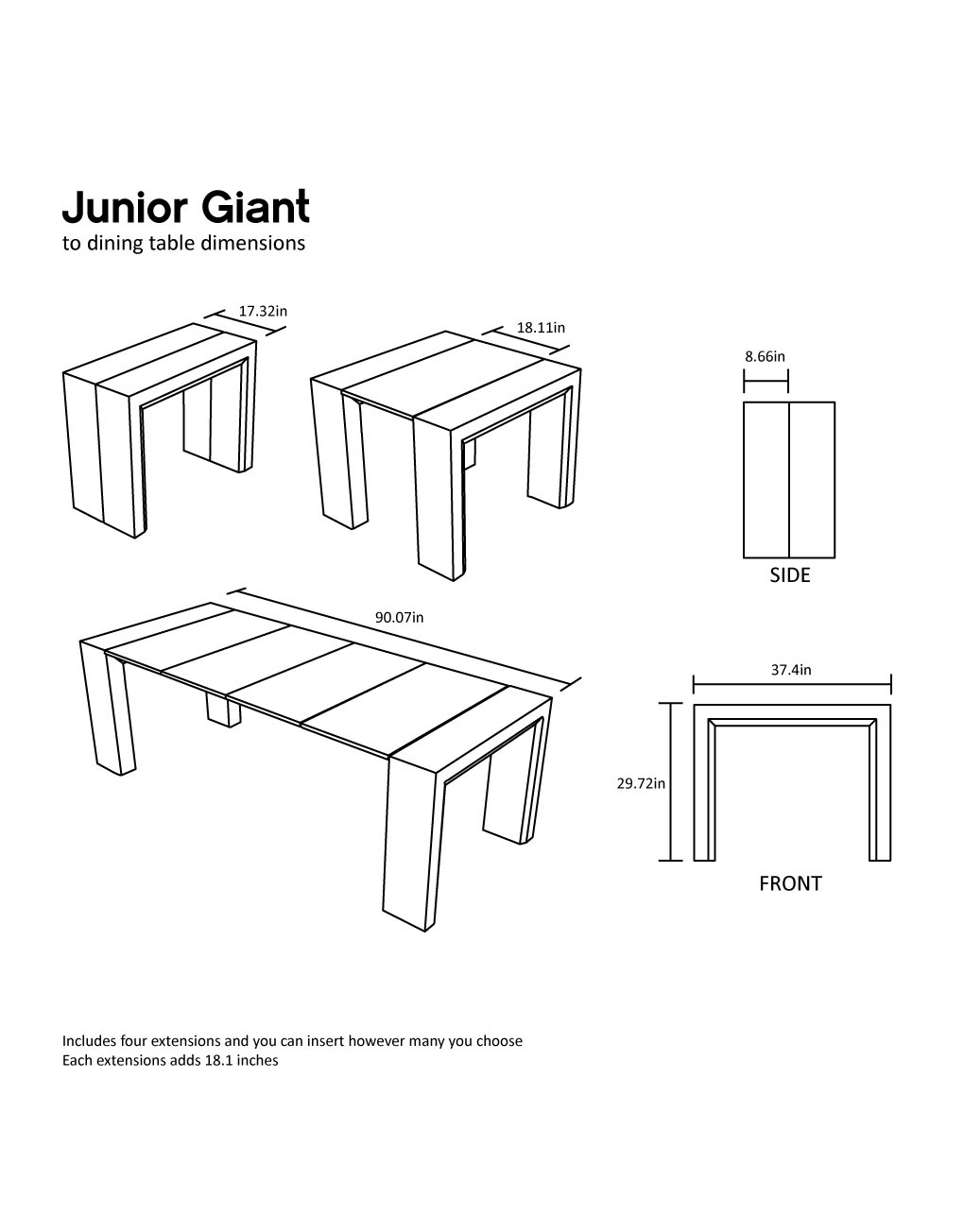 Junior Giant Table  Expand Furniture