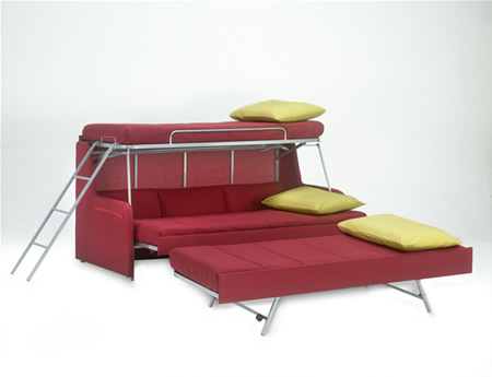 sofa bed that transform into a multiple bunk bed