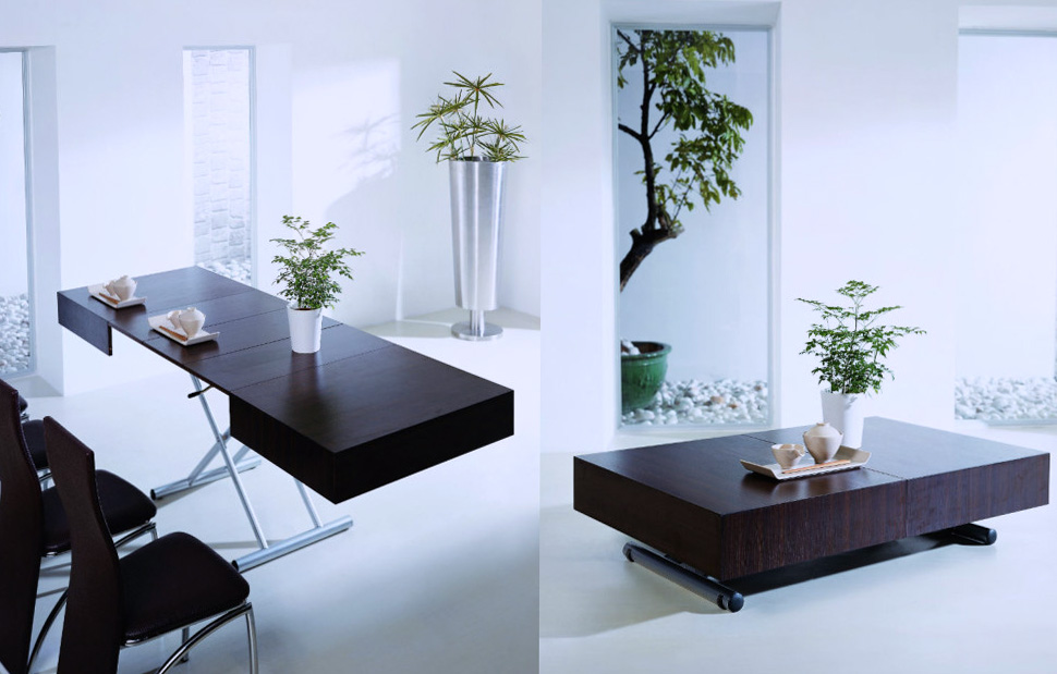 Space saving dining table expand furniture - Table a manger pliante ...