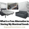 What is a Free Alternative to Storing My Montreal Household Goods in a Paid Storage Location? Using Transforming Furniture with Expand Furniture