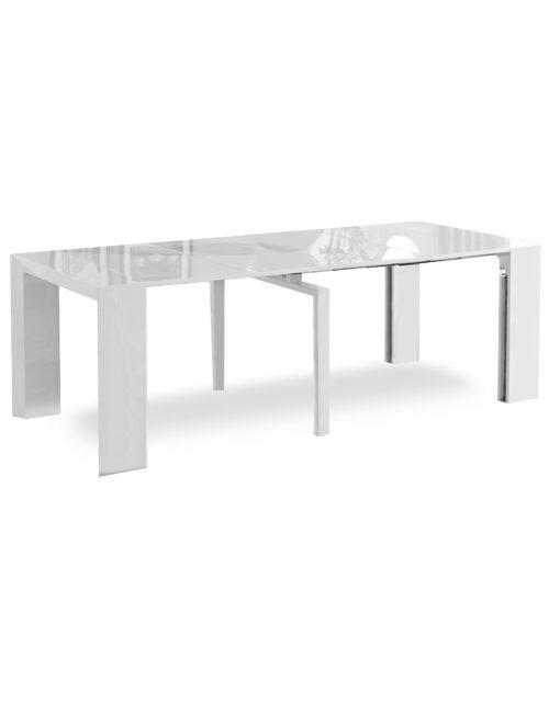 Junior-Giant-Edge-Dining-table-in-white-gloss-extending-console-table