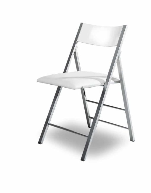 Nano-folding-chair-in-white-gloss-and-silver
