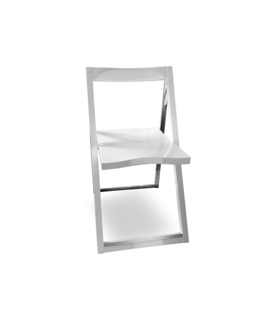 Pendulum-folding-chair-in-white-and-chrome