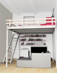 DIY Manhattan loft kit mezzanine