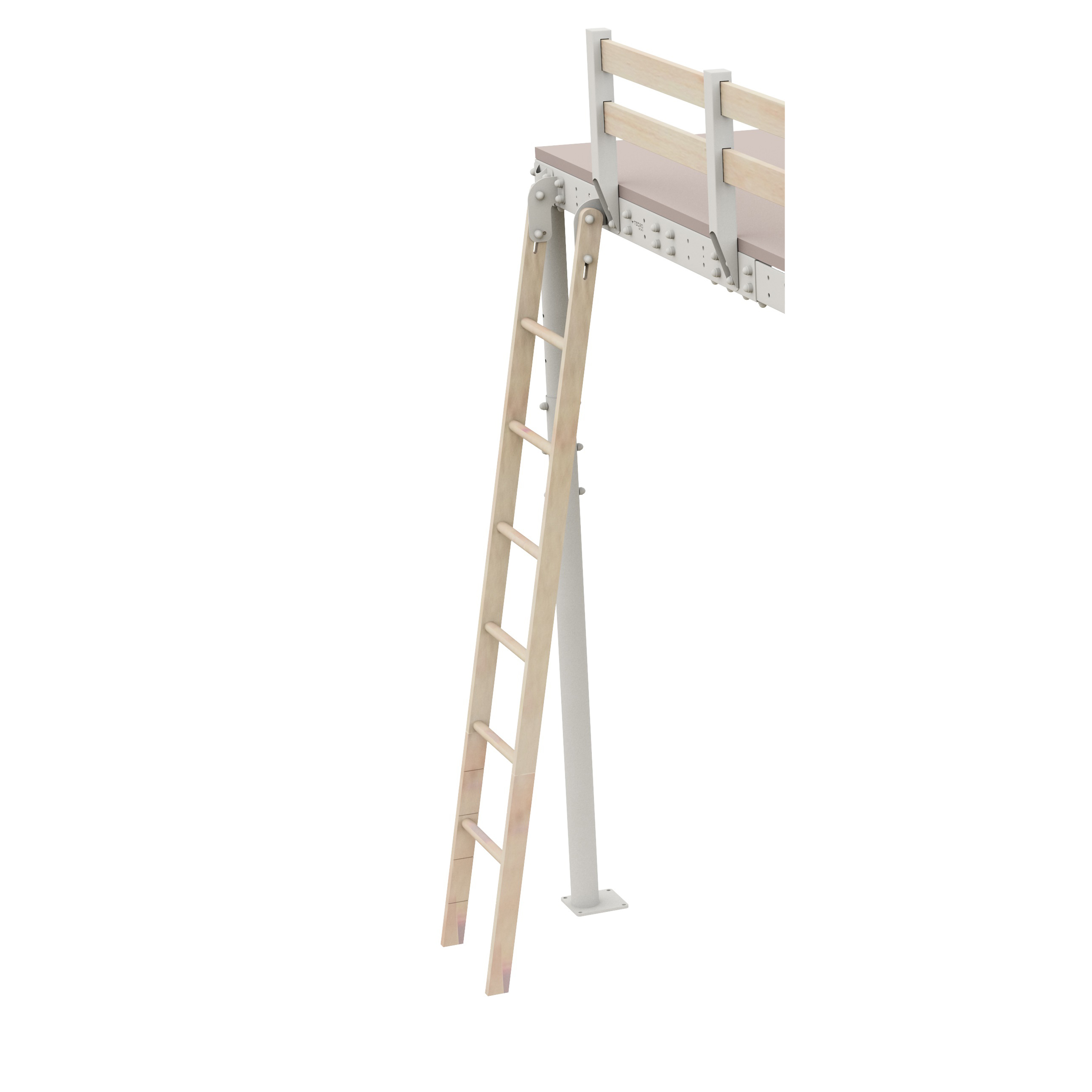 Loft Bed Retractable Ladder. Prev