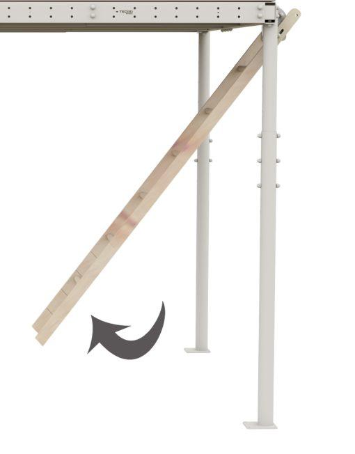 loft bed retractable ladder