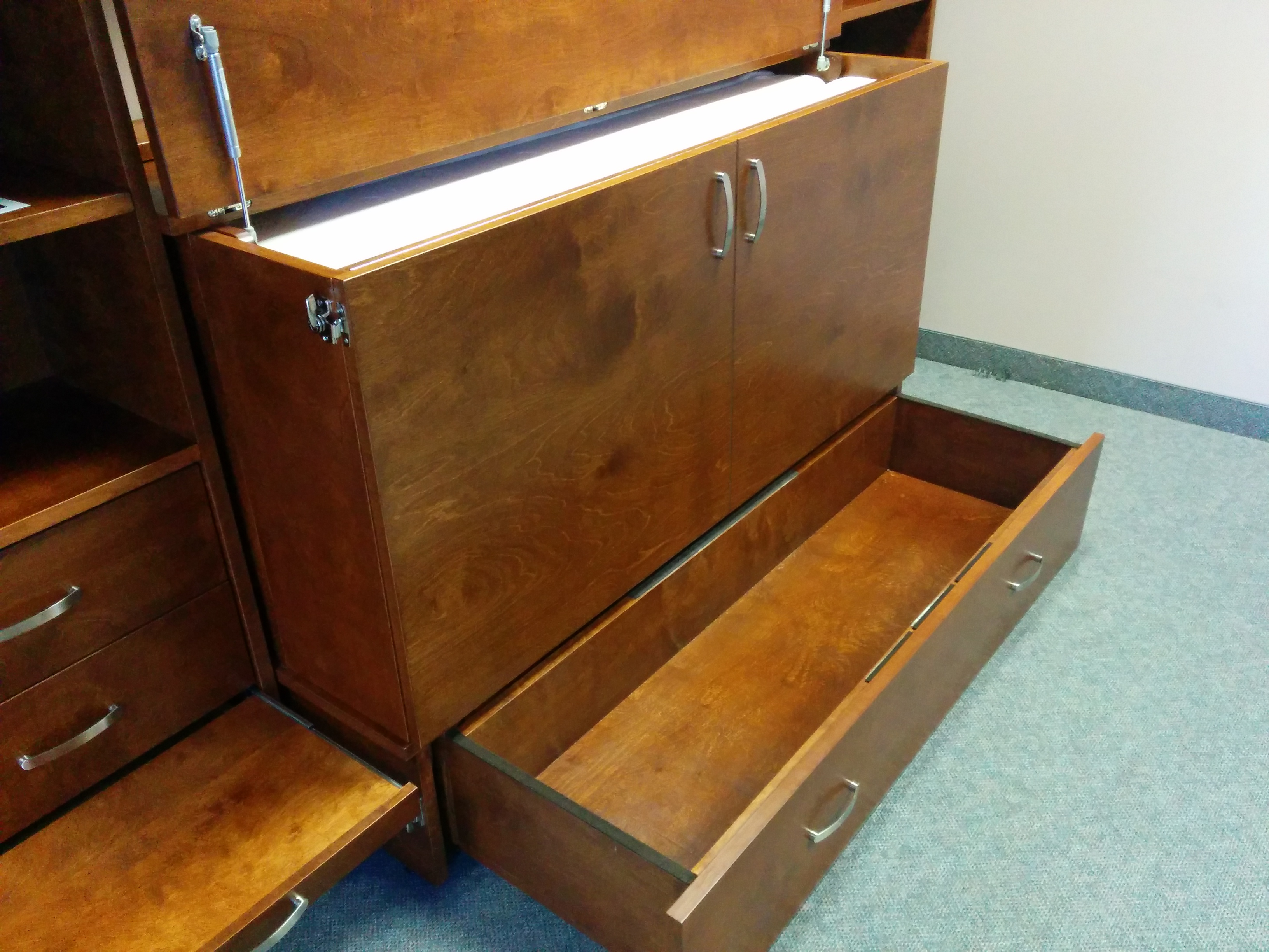Cabinet Bed Hide Away Bed System With Storage