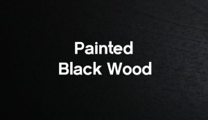 painted-black-wood cabinet bed color