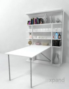 space saving wall-bed-desk